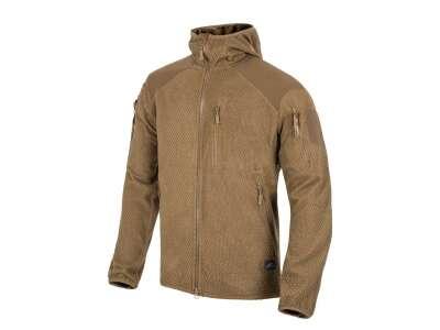 Куртка ALPHA HOODIE - Grid Fleece, Coyote, Helikon-Tex®
