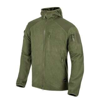 Куртка ALPHA HOODIE - Grid Fleece, Olive Green, Helikon-Tex