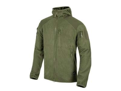 Куртка ALPHA HOODIE - Grid Fleece, Olive Green, Helikon-Tex