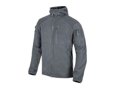 Куртка ALPHA HOODIE - Grid Fleece, Shadow Grey, Helikon-Tex®