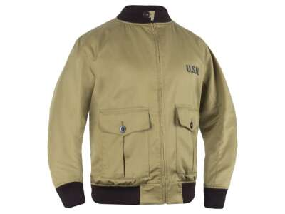 Куртка-бомбер USN-37J1 Pilot Jacket, Bush Brown, P1G-Tac