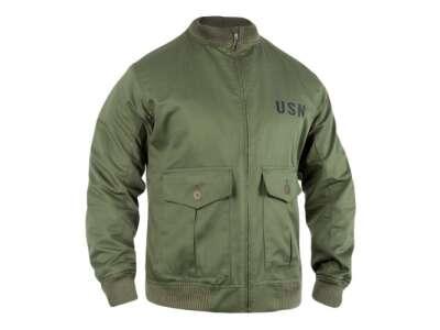 Куртка-бомбер USN-37J1 Pilot Jacket, Olive Drab, P1G-Tac