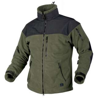 Куртка CLASSIC ARMY - Fleece Windblocker, Olive Green/Black, Helikon-Tex