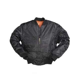 Куртка Miltec льотна Flight Jacket MA1 (Black, чорна), Miltec