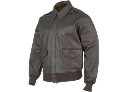 Куртка льотна шкіряна американська A2, [108] Brown, Mil-tec