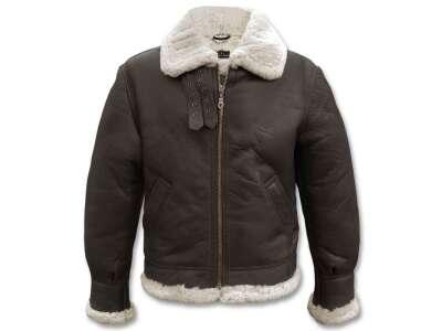 Куртка лётная кожаная американская B3, [108] Brown, Sturm Mil-Tec® Reenactment