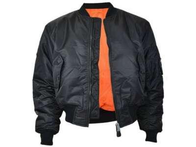 Куртка льотна MA1 (Black), Mil-tec
