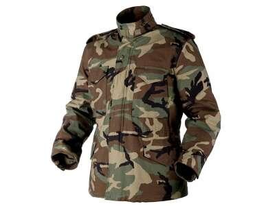 Куртка M65 - NyCo Sateen, US Woodland, Helikon-Tex