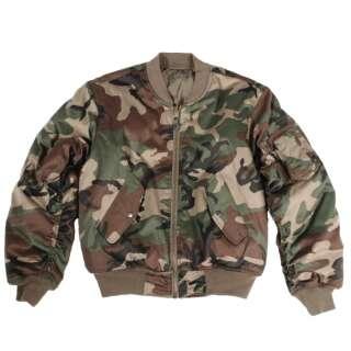 Куртка MA1 - камуфляжна, US Woodland, Mil-tec