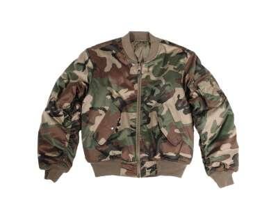 Куртка MA1 - камуфляжная, US Woodland, Mil-tec