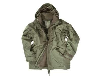 Куртка непромокаючий з флісовій підстібка Mil-Tec (Olive), Mil-tec