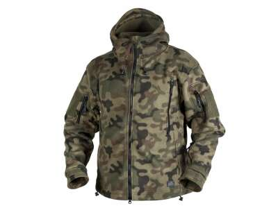 Куртка PATRIOT - Double Fleece, PL Woodland, Helikon-Tex