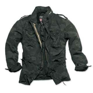 Куртка зі знімним підкладкою SURPLUS REGIMENT M 65 JACKET, [1345] Washed black camo, Surplus