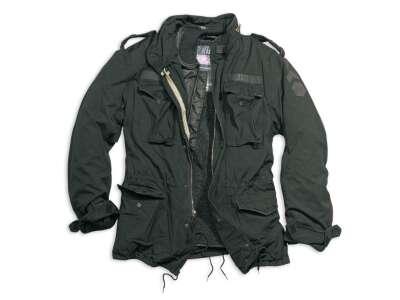 Куртка со съемной подкладкой SURPLUS REGIMENT M 65 JACKET, [1346] Washed black, Surplus Raw Vintage®