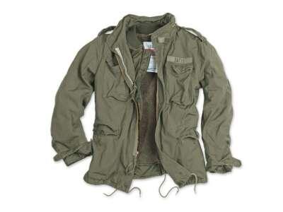 Куртка со съемной подкладкой SURPLUS REGIMENT M 65 JACKET, [1349] Washed olive, Surplus Raw Vintage®