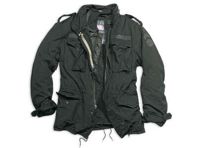 Куртка со съемной подкладкой SURPLUS REGIMENT M 65 JACKET (Black), Surplus Raw Vintage®