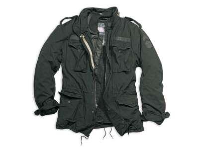 Куртка со съемной подкладкой SURPLUS REGIMENT M 65 JACKET (большие размеры), [1346] Washed black, Surplus Raw Vintage®