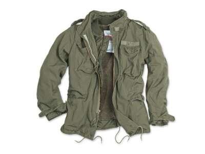 Куртка со съемной подкладкой SURPLUS REGIMENT M 65 JACKET (большие размеры), [1349] Washed olive, Surplus Raw Vintage®