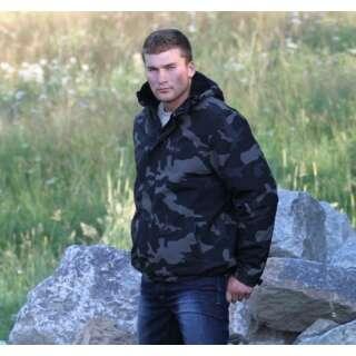 Куртка SURPLUS ZIPPER WINDBREAKER, [1150] Black camo, Surplus Raw Vintage®