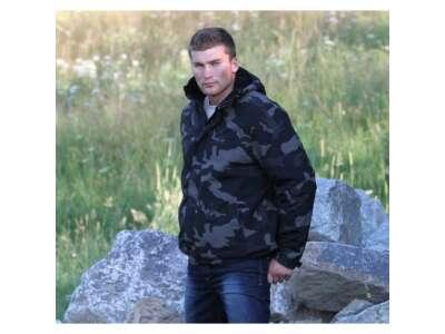 Куртка SURPLUS ZIPPER WINDBREAKER, [1150] Black camo, Surplus