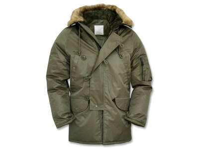 Куртка US N3B (Aляска), Olive Green, Mil-tec