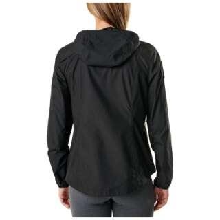 Куртка вітрозахисна жіноча 5.11 Women's Cascadia Windbreaker Packable Jacket, [019] Black, 44140