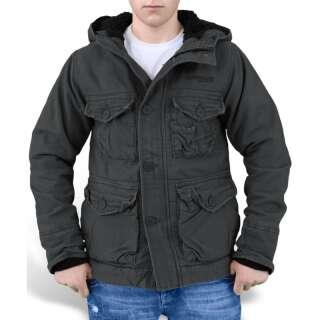 Куртка зимняя SURPLUS SUPREME VINTAGE HYDRO, [1346] Washed black, Surplus