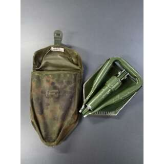 Лопата NATO 3х складна з чохлом б/у, [182] Olive, Sturm Mil-Tec® Reenactment