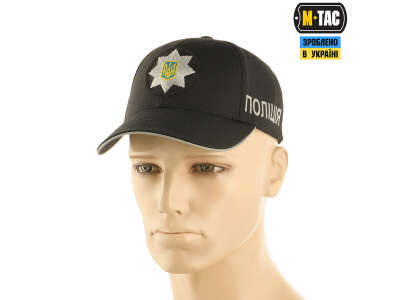 M-Tac бейсболка Полиция Elite Flex рип-стоп Black