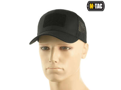 M-Tac бейсболка с липучкой и сеткой Flex рип-стоп Black