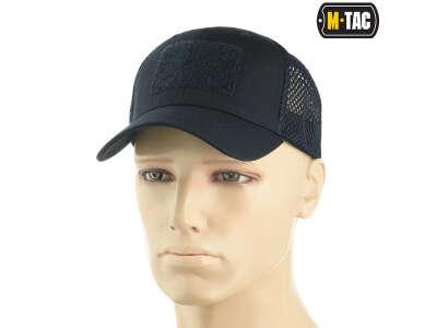 M-Tac бейсболка с липучкой и сеткой Flex рип-стоп Dark Navy Blue