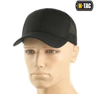 M-Tac бейсболка с сеткой Flex рип-стоп Black
