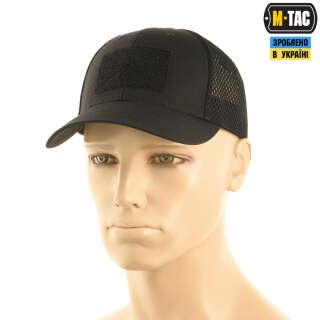 M-Tac бейсболка тактическая с сеткой Elite Flex Black