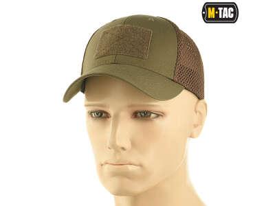 M-Tac бейсболка тактическая с сеткой Elite Flex Dark Olive