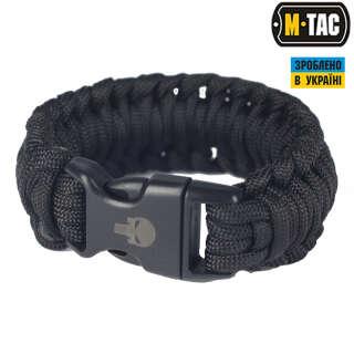 M-Tac браслет паракорд Каратель 2 чорний