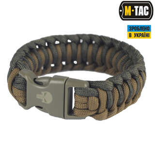 M-Tac браслет паракорд Каратель 2 олива/хакі
