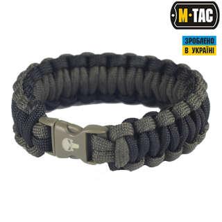 M-Tac браслет паракорд Каратель олива/чорний