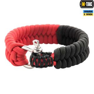 M-Tac браслет паракорд червоно-чорний
