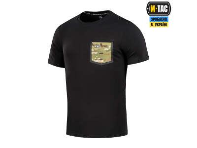 M-Tac футболка с карманом 93/7 Black