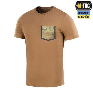 M-Tac футболка с карманом 93/7 Coyote Brown