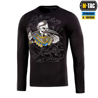 M-Tac футболка Земля Козаків длинный рукав Black