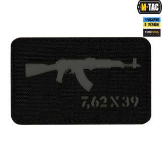 M-Tac нашивка AKM 7,62х39 Laser Cut Black/Grey