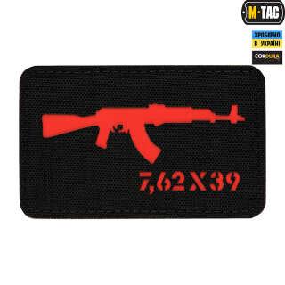 M-Tac нашивка AKM 7,62х39 Laser Cut Black/Red
