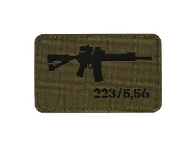 M-Tac нашивка AR-15 223/5,56 Laser Cut Ranger Green/Black