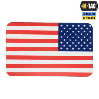 M-Tac нашивка прапор США реверс (80х50 мм) Full Color/GID