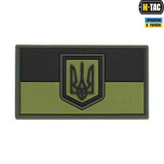 M-Tac нашивка прапор України малий PVC Olive