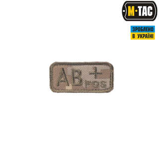 M-Tac нашивка група крові AB + Pos MM14