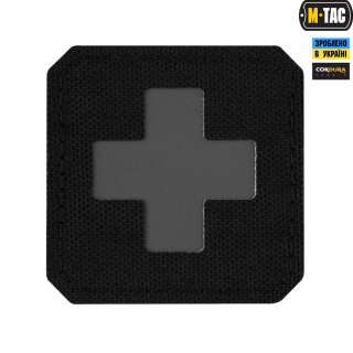 M-Tac нашивка Medic Cross Laser Cut Black/Grey