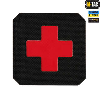 M-Tac нашивка Medic Cross Laser Cut Black/Red