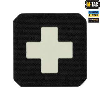 M-Tac нашивка Medic Cross Laser Cut Black/светонакопитель
